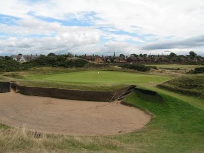 Green et large bunker sur le parcours de Prestwick