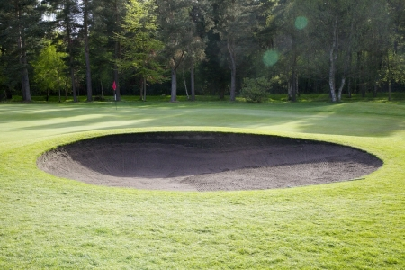 Un bunker du golf de Ladybank.