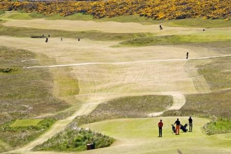 Golfeurs sur le parcours du Royal Dornoch
