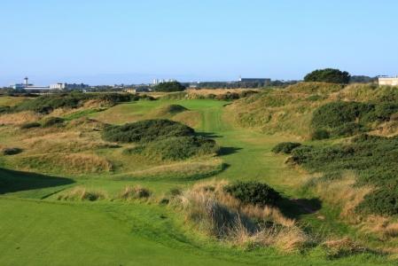 Trou n°5 sur le parcours de golf de Murcar à Aberdeen en Ecosse