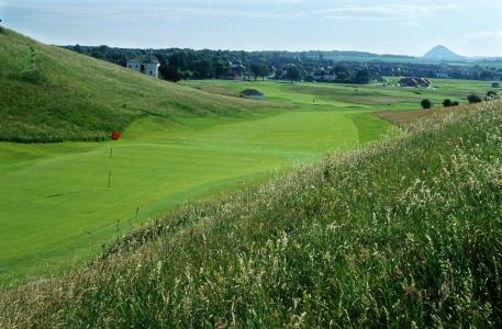 Green du trou n°1 du parcours de golf de Gullane n°1