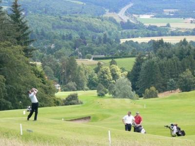 Golfeurs sur le parcours de Pitlochry