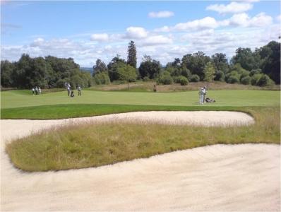 Un bunker du golf de Loch Lomond.