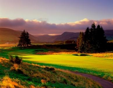 Le couché du soleil du golf de Gleneagles.