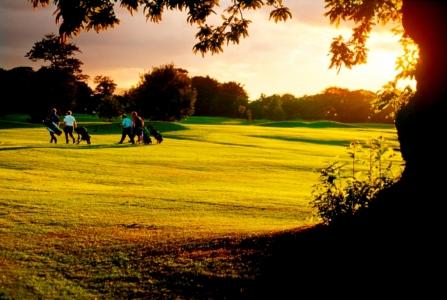 Golfeurs sur le parcours du Royal Musselburgh
