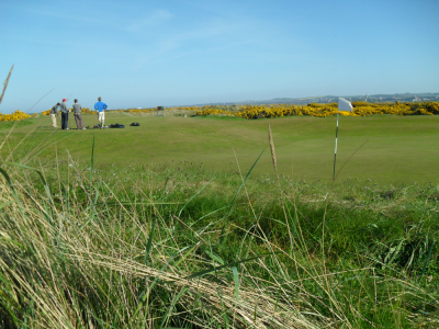 Golfeurs au départ sur le New Course à St Andrews