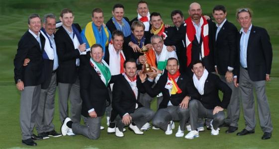 Joueurs de l'équipe européenne à la Ryder Cup 2014 à Gleneagles en Ecosse