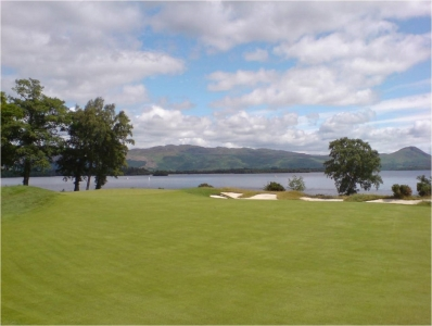 Un fairway du golf de Loch Lomond.