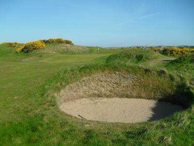 Bunker sur l'Eden course à St Andrews