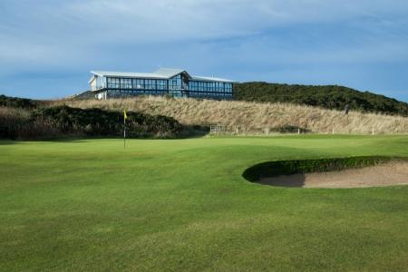 Green, bunker et clubhouse sur le parcours de Newburgh