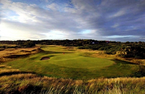 Un green du golf de Royal Troon.