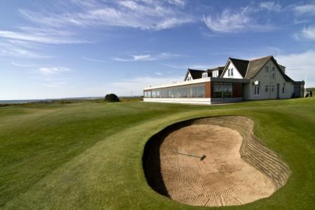 Trou n°18 sur le parcours de golf de Murcar à Aberdeen en Ecosse