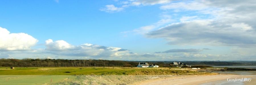 Vue mer et golf sur le parcours de Kilspindie