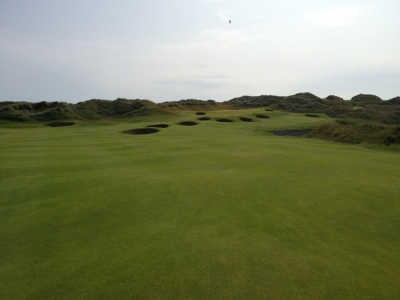 Large green sur le parcours du Trump International Golf Links Scotland