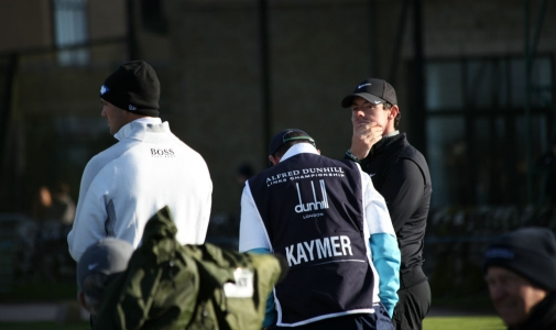 Martin Kaymer et Rory McIlroy lors de la compétition Alfred Dunhill Links en Ecosse