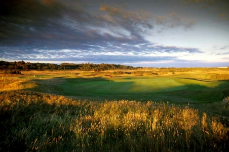 Large green sur le parcours de Royal troon