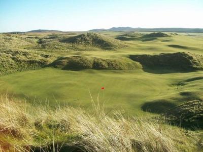 Green et dunes sur le parcours de Machrie