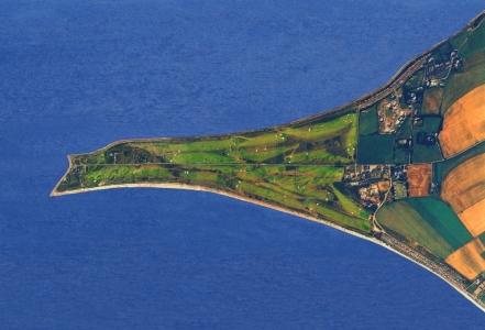 Vue aérienne de la peninsule sur le parcours de Fortrose & Rosemarkie
