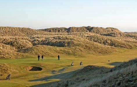 Golfeurs sur le parcours de Fraserburgh