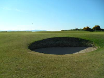Large bunker sur l'Eden course à St Andrews