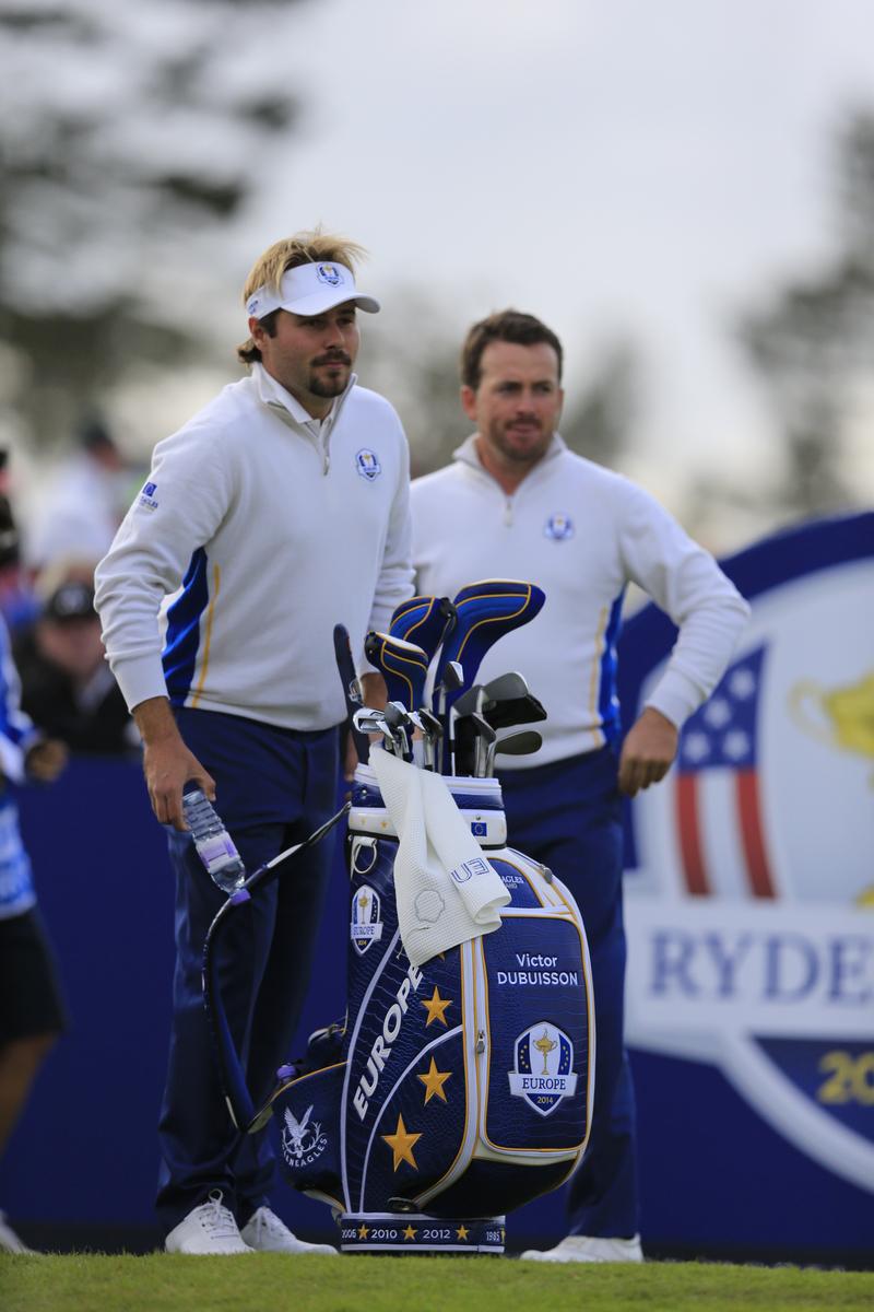 Victor Dubuisson et Graeme McDowell pendant la Ryder Cup 2014 en Ecosse à Gleneagles