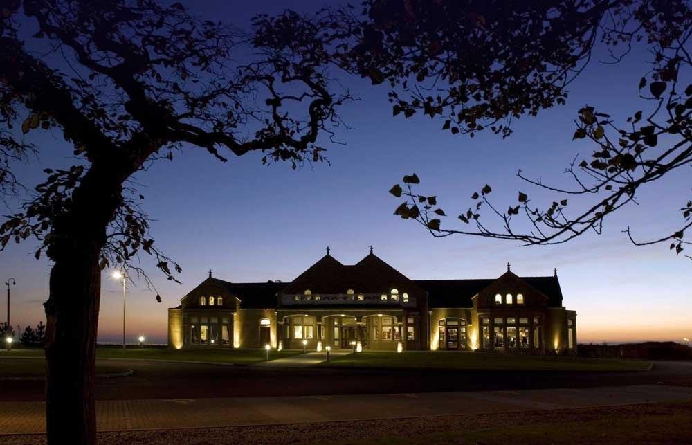 Clubhouse sur le parcours de Royal Troon Old Course