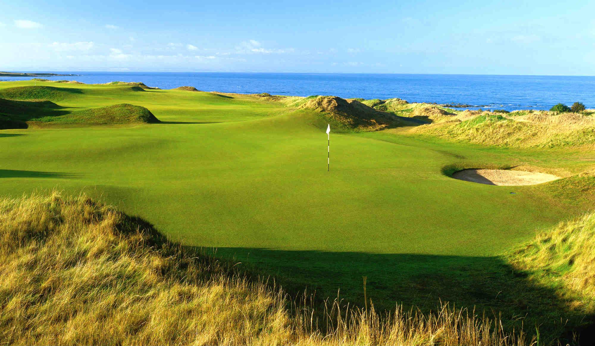 Golf de Kingsbarns au sud de St Andrews dans le Fife