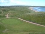 Green, dunes et mer sur le parcours de Cruden Bay