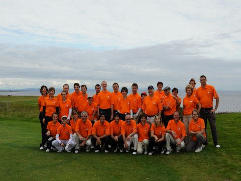Groupe de golfeurs lors d'un séjours de golf en Ecosse