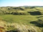 Large green dans les dunes sur le parcours de Machrie
