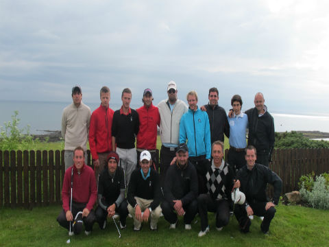 groupe de golfeurs lors d'un séjour en Ecosse