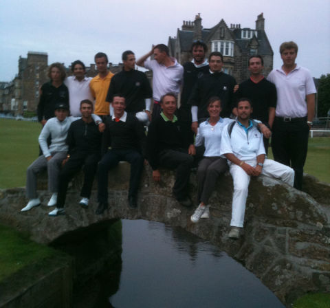 Photo sur le pont de Saint Andrews