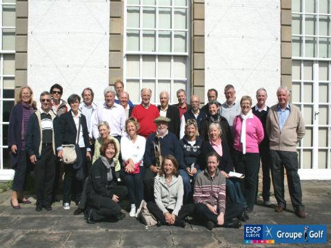 Groupe lors d'un séjour de golf en Ecosse