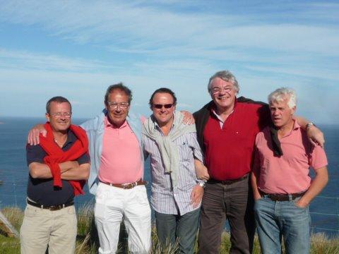Groupe d'amis golfeurs lors d'un séjour de golf en Ecosse