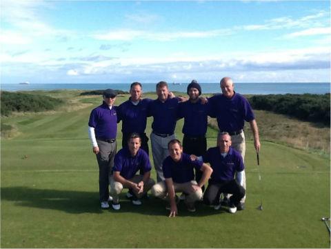 Groupe de golfeurs lors d'un séjour de golf en Ecosse