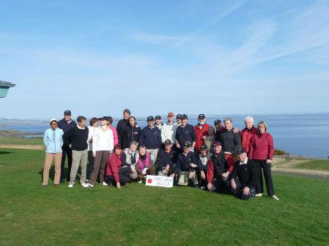 Groupes de golfeurs lors d'un séjour de golf en Ecosse