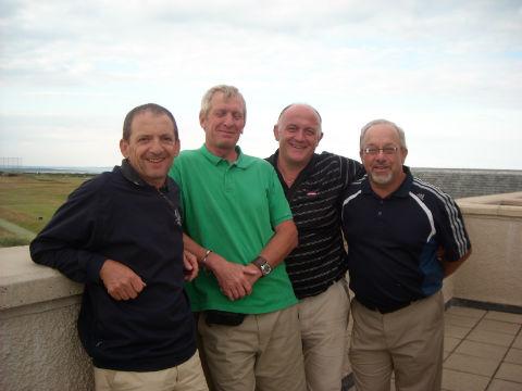Groupe de 4 golfeurs lors d'un séjour de golf en Ecosse