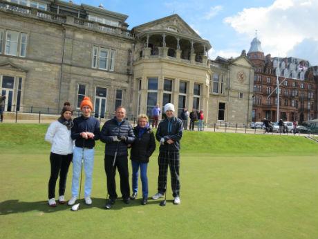 Golfeurs à st Andrews